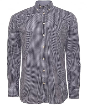 Slim Fit Micro Gingham Shirt