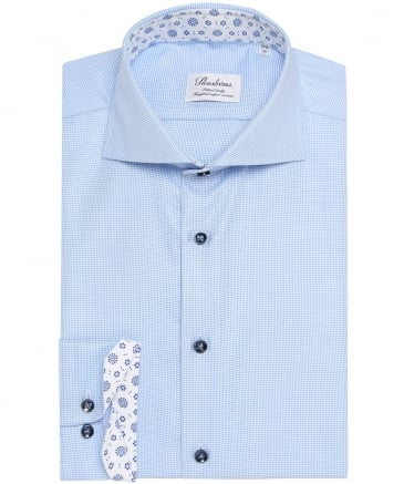 Fitted Body Micro Houndstooth Shirt
