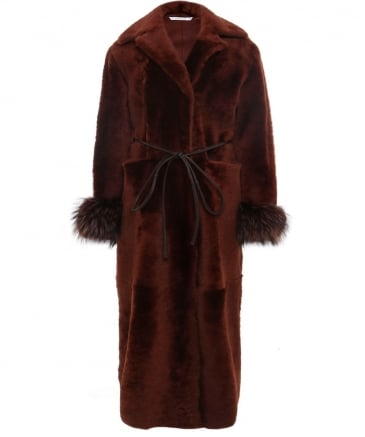 Long Reversible Fur Coat