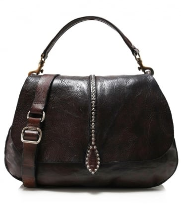 Leather Shoulder Satchel Bag