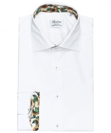 Fitted Body Sunflower Trim Shirt