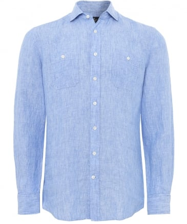 Slim Fit Délavé Linen Shirt