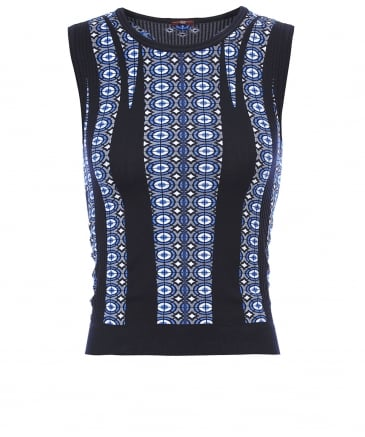 Kinetic Patterned Knit Tank Top
