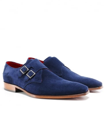 Suede Scarface Double Monk Strap Shoes