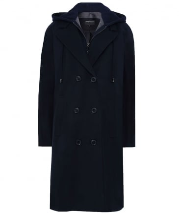 Removable Hooded Trench Coat
