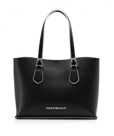 Small Faux Leather Tote Bag