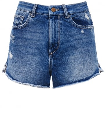 Cleo High Rise Denim Shorts