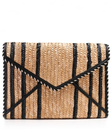 Straw Leo Clutch Bag