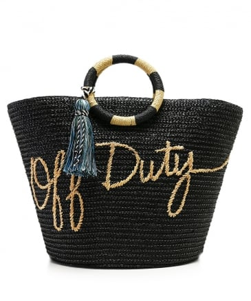 Off Duty Straw Tote Bag