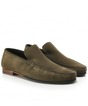 Loake Hommes Marine Lincoln Suede Loafers-UK 10 kd1yO