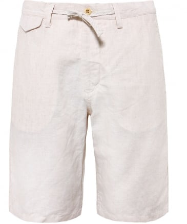 Relaxed Fit Linen Shorts