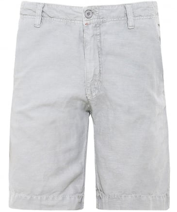 Linen Blend Bank Shorts