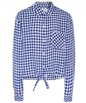 Val Gingham Tie Knot Shirt