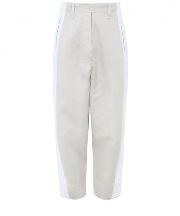 Linen Blend Ena Hand-Painted Trousers