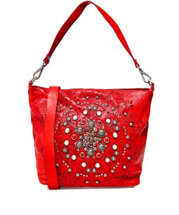 2bc70dc61b Campomaggi Women's Leather Studded Shopper Bag